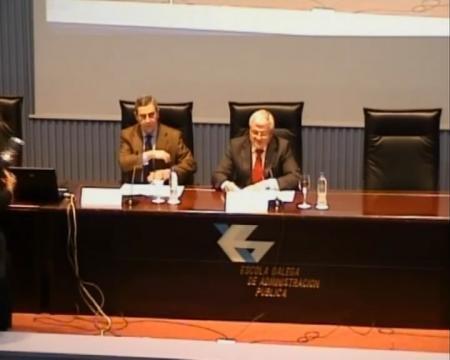 Eliseo Diéguez García. Director Xeral INEGA. Pablo Figueroa Dorrego. Director da EGAP. - Xornada sobre sostibilidade enerxética municipal